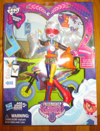 My Little Pony Equestria Girls SUGARCOAT DOLL MOTOCROSS SPORTY 2015 NEW RARE