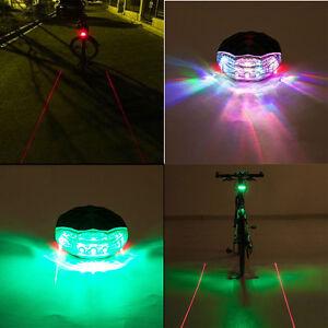 Bike Laser Tail Light Red LED Safety Flashing Bicycle Cycle Lazer Rear Back Lamp