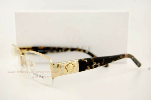 Versace Eyeglasses Frames 1175b 1002 Gold Sz 53 for Women Men 100 ...