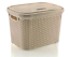 Large-20-Litre-Plastic-Rattan-Storage-Box-with-Lid-Stackable-Basket-Container thumbnail 5