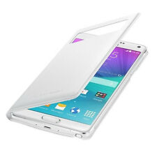 Original Samsung S-View Cover Flip Wallet EF-EN910 Galaxy Note 4 SM-N910F Weiß