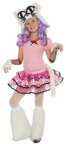 Mee-Oow Playful Kitty Cat Kitten Animal Pink Fancy Dress Halloween Child Costume