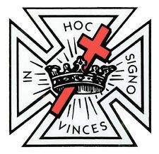 Knights Templar seal vinyl sticker decal Masonic Freemasons car window optional