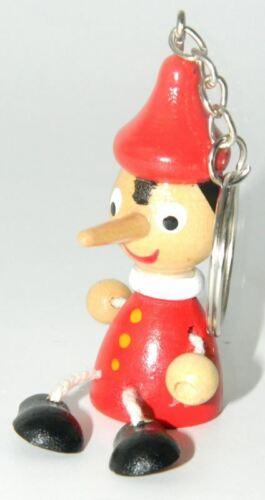 Porte-clés Pinocchio Jouet Poupée En Bois Italie Marionnettes