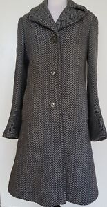 DKNY-Grey-Wool-Blend-Coat-Size-6