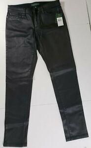Coated Moto Nwt Jeans Størrelse Lauren Kvinders Skinny Black Stretch Ralph 8 ZwqzTq0
