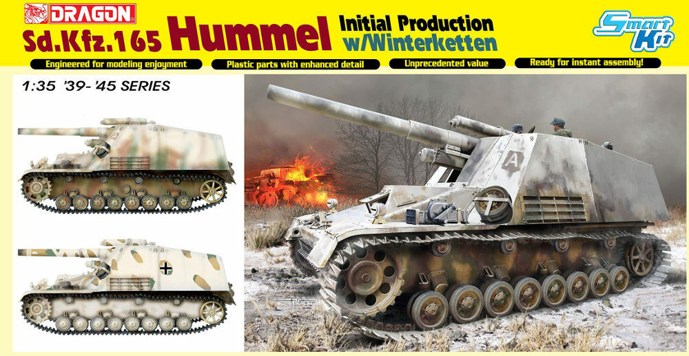 drake 676 Sd.Kfz.165 Hummel Ursprunglig produktion w  Winterketten