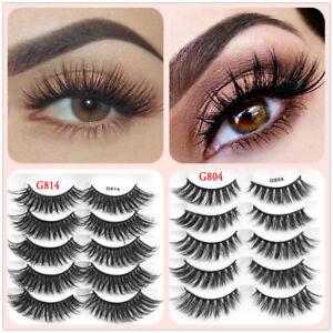 17c6589c50c Image is loading Natural-Mink-Hair-False-Eyelashes-Wispy-Lashes-Glam-