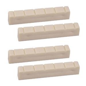 4Pcs-en-plastique-48-mm-6-STRING-fendue-Guitare-Classique-Cou-Nut-Guitar-Parts