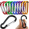 5Pc Aluminum Carabiner Snap Clip Hook D-Ring Key Chain Clip Keychain Hiking Camp