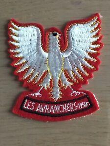 Grand aigle - grand et rare écusson blason brodé Les Avranchers années 60