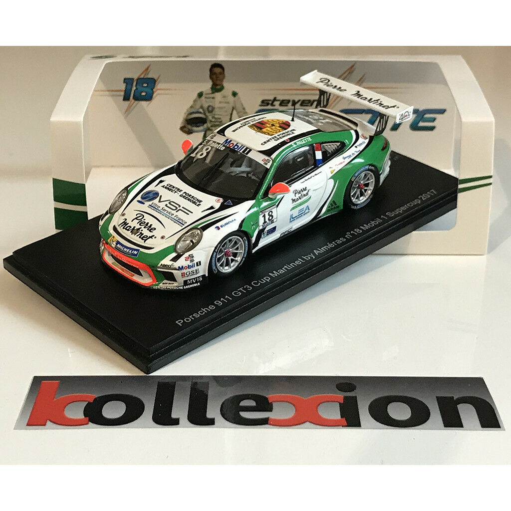 Porsche 911 gt3 cup funke 43kx006 no.18 supercup 2017 palette 1,43 (exclu.kx.