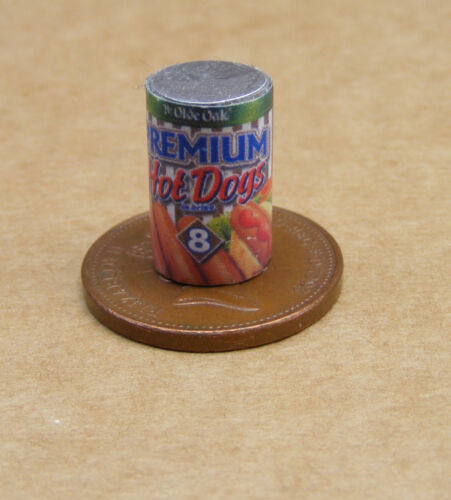 1:12 Scale Premium Hot Dogs Tins Dolls House Miniature Kitchen Food Accessory