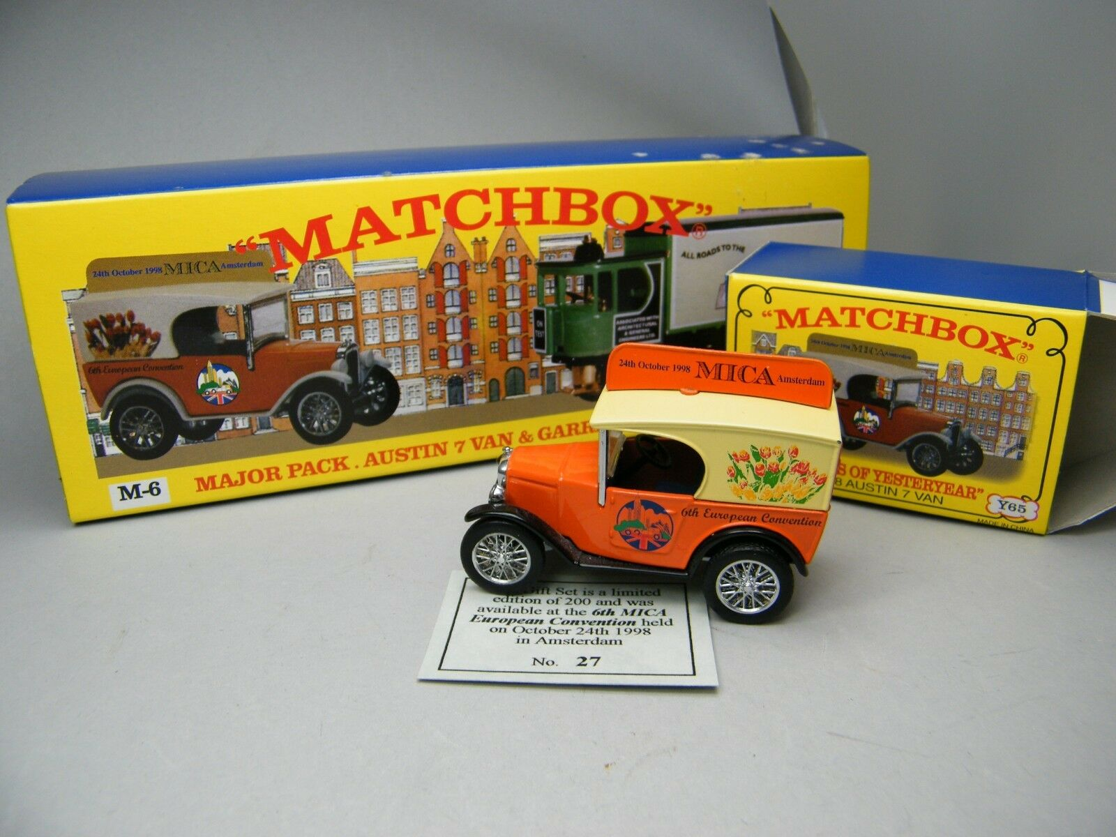 Matchbox MOY c2 y-65 Austin Seven from Mica m-6 Set 1 of 200 VERY RARE BOXED k17