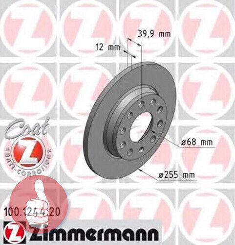 Zimmermann Coat Z Bremsscheiben 255mm voll Hinterachse für Audi