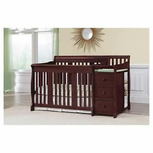 Details About Baby Crib Changing Table Dresser Combo Toddler Bed Daybed  Full Storage Drawers