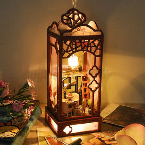 Hanging-Miniature-Dollhouse-Wooden-DIY-Light-Gift-Home-Decor-Battery-Powered
