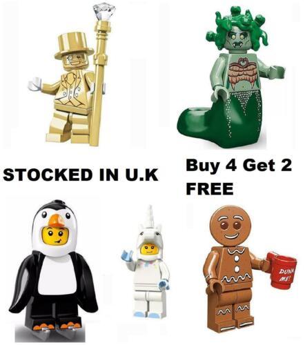 Series Minifigure Unicorn Mr Gold Gingerbread Man Medusa Penguin Mini Figure