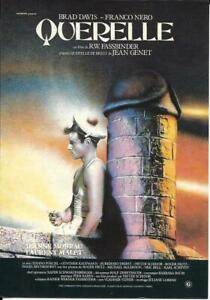 QUERELLE Brad Davis Jeanne Moreau Franco Nero Fassbinder ...