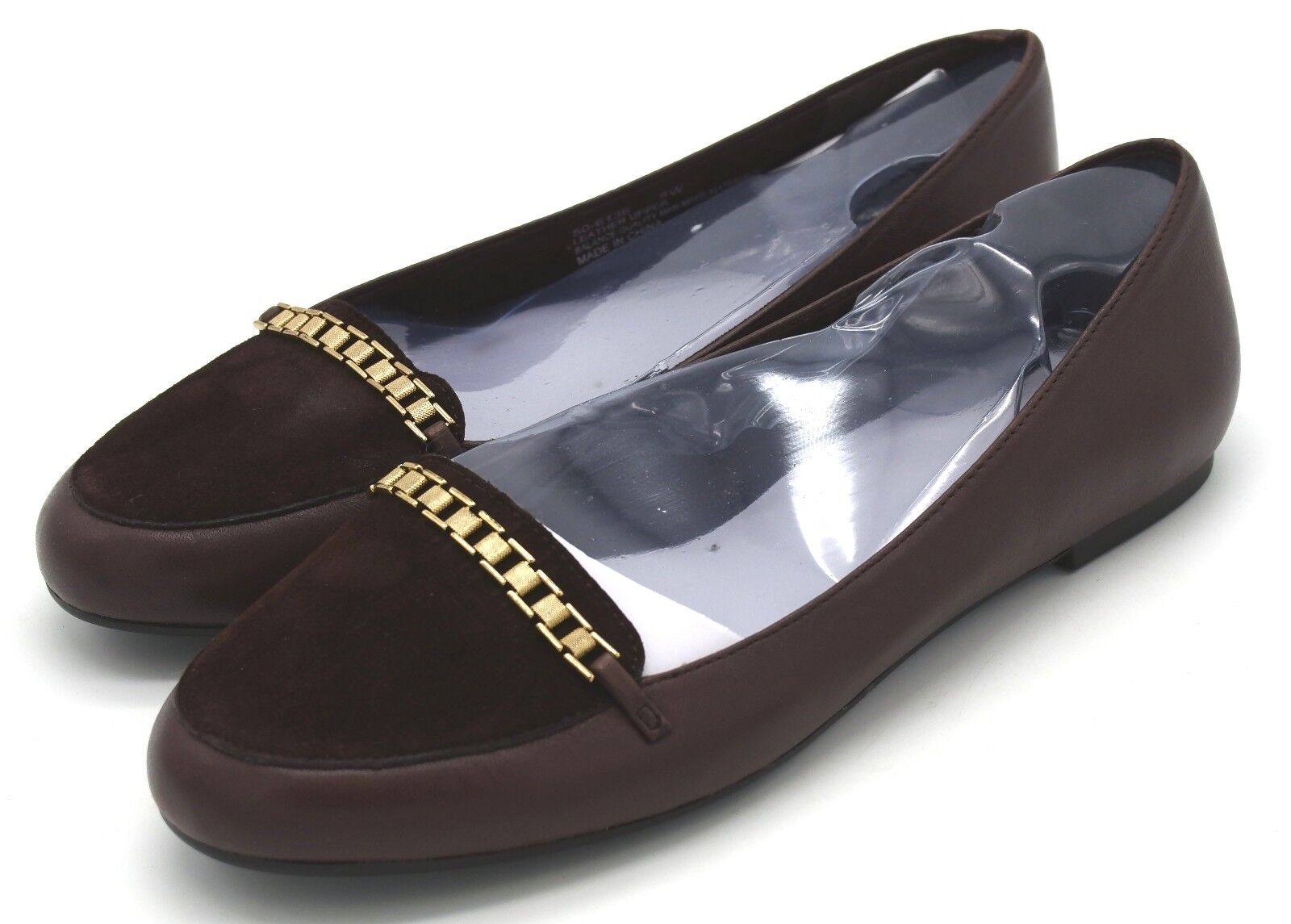 J5806 New Women's Bella Vita Thora Dark Brown Leather Flat 8 W