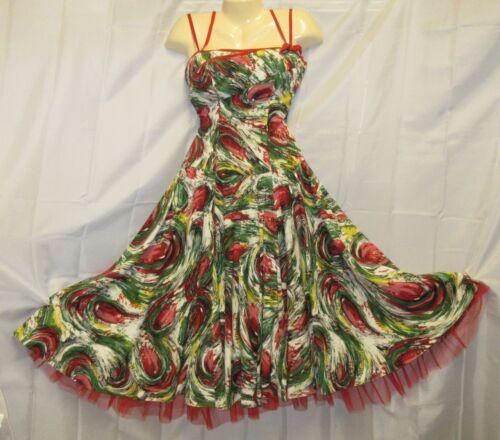 Perullo David Hart Dress VTG 50s Rockabilly Tulle