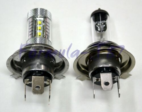LED 80W 9003 HB2 H4 Orange Amber Two Bulbs Head Light Replace Show Use Off Road