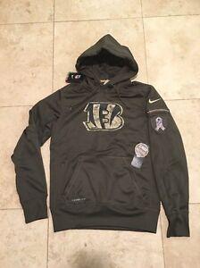New Nike Cincinnati Bengals NFL Salute to Service KO Hoodie Size S ... 30ea5ee44