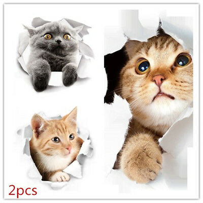 Wall Sticker Cute Cat Stickers Refrigerator Stickers Home Wall Removable Sticker