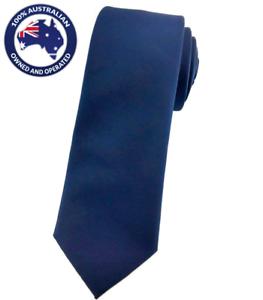Men/'s Skinny Tie Navy Blue 6CM Slim Ties Solid Color Thin Necktie for Weddings