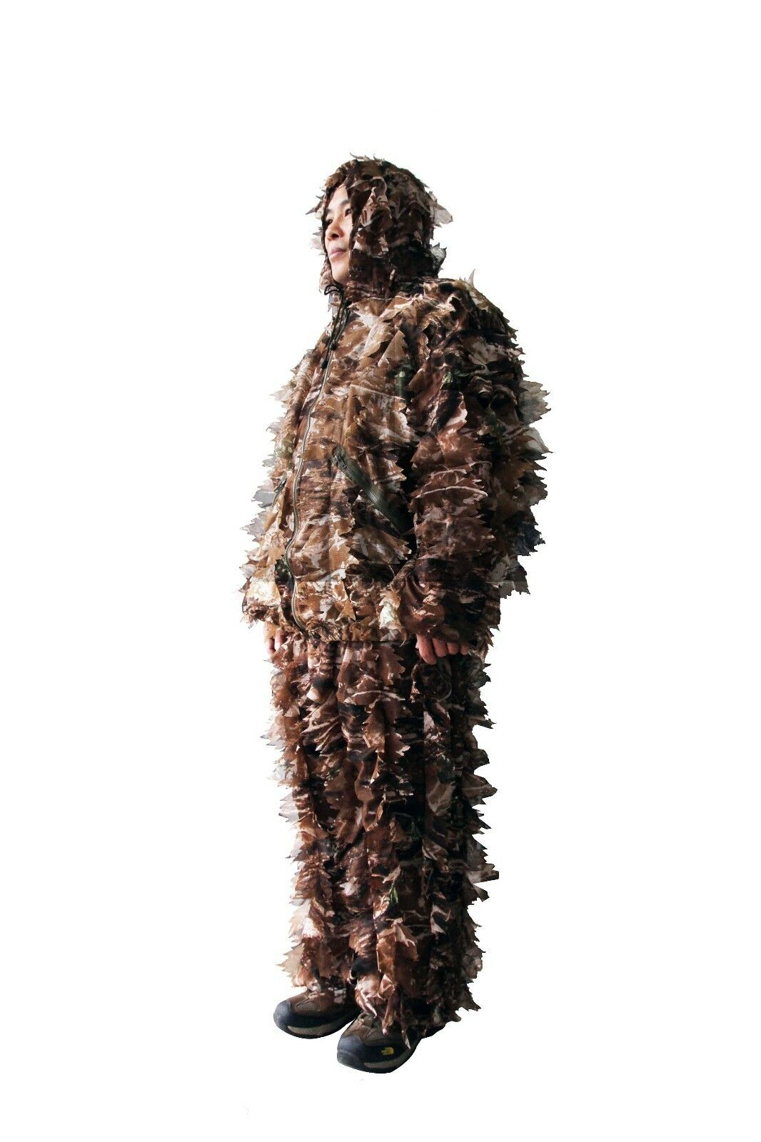 Military Camo Woodland Ghillie Suit Green Brown  Leaf Camouflage Suit Hunting  best quality best price