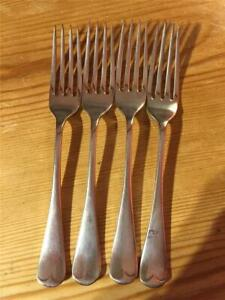 4 x Vintage Silver Plated EPNS Table Forks 17cm Various Makers