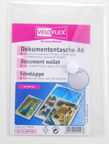 Veloflex Dokumententasche DIN A4  A5  A6 Transparent  Dokumenten Hülle Mappe