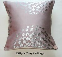 "16"" Laura Ashley 'Coco' Amethyst fabric cushion cover"