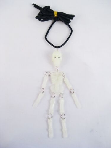 "One Brand New Halloween Glow In The Dark 4/"" Skeleton Necklace #N2200"