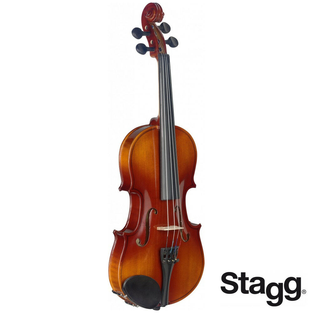 Stagg VN12-L Spruce Top 1 2 Size Deluxe Violin Ensemble with Case, Bow & Rosin
