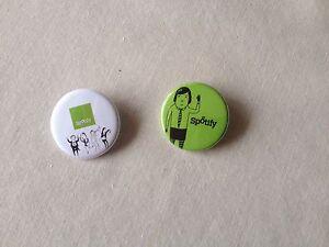 mujer baratas envío gratis Détails sur Spotify 2 Badges Broches Pins Diamètre 3 Cm Neufs