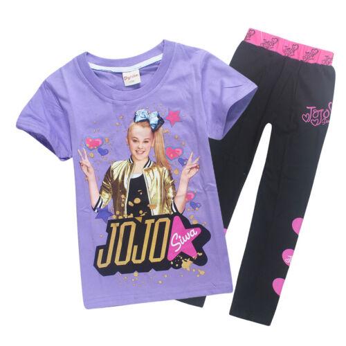 Shirts Trousers Casual Tops Clothes tshirts Kids Girls JoJo Siwa 100/% Cotton T