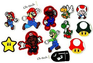 SUPER MARIO PATCH EMBROIDERED CHARACTER KIDS CARTOON IRON SEW ON CLOTHES BADGE