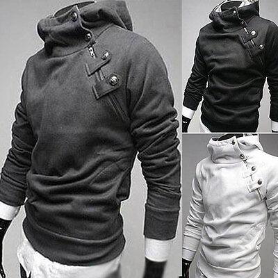 Men Warm Hoodie Hooded Long Sleeve Sweatshirt  Sweater Tops Jacket Coat Outwear