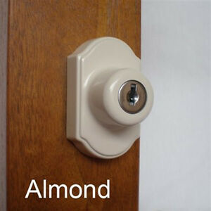 Storm Door Locking Deabolt Kit Almond For 1 1 2 Inch Thick