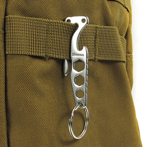 Outdoor Survival Pocket Tool Key Ring Chain Bottle Opener Rescue Camping Hot