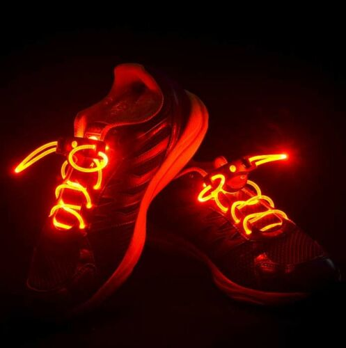 Women Men LED Shoe Laces Flashing Light Up Glow Stick Strap Disco Night Party