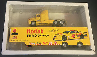 Cars: Racing, Nascar Diecast & Toy Vehicles Pure White And Translucent American Racing Scene Sterling Marlin #4 Chevy Semi Hauler Kodak In Box!!