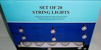 Edison Style String Lights Set Of 20 Lights End To-end Connection [round Bulbs]
