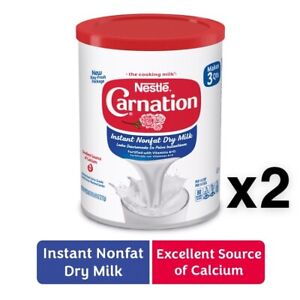 2X-Nestle-Carnation-Instant-Nonfat-Dry-Powdered-Milk-9-6-oz-Cans-W-Vitamins-A-amp-D