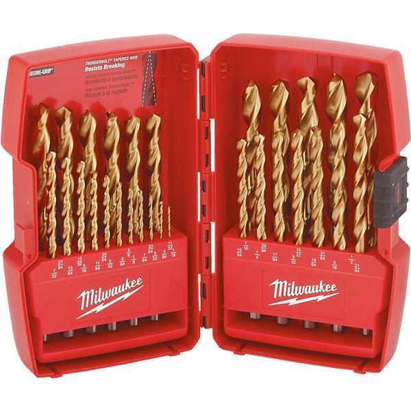 Milwaukee Thunderbolt Best High-Performance 29-Piece Titanium Drill Bit Set
