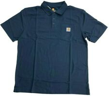 2e986b3c Carhartt K570 Contractors Work Pocket Polo 2xl Navy - NVY for sale ...