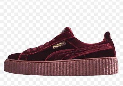 newest 8a4f1 272b0 New Puma Fenty By Rihanna Velvet Creeper Sneakers Burgundy ...