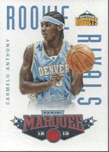 2012-13-Panini-Marquee-Rookie-Rivals-Leather-12-Carmelo-Anthony-LeBron-James
