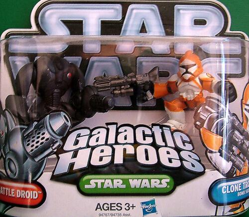 "Galactic Heroes /"" SUPER BATTLE DROID /& CLONE TROOPER Bomb Squad /"" NOC"